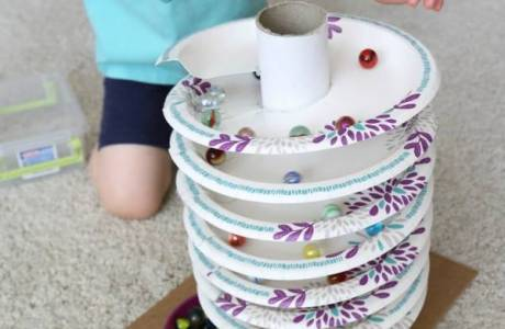 Make a Marble Track Out of Paper Plates
