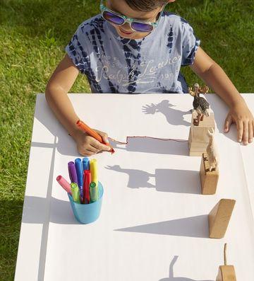 shadow drawing summer craft