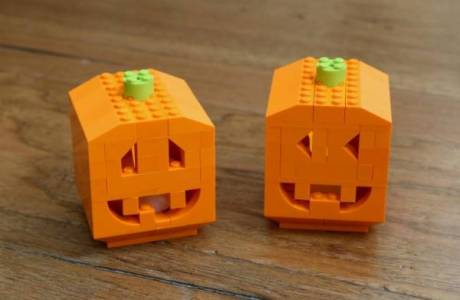 Make a Pumpkin out of Legos