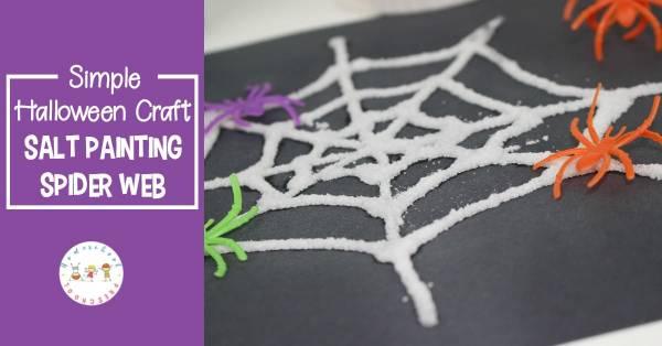 salt spider web kids art activity