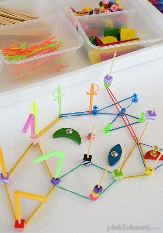 Make a DIY Geoboard with Stuff from around the House