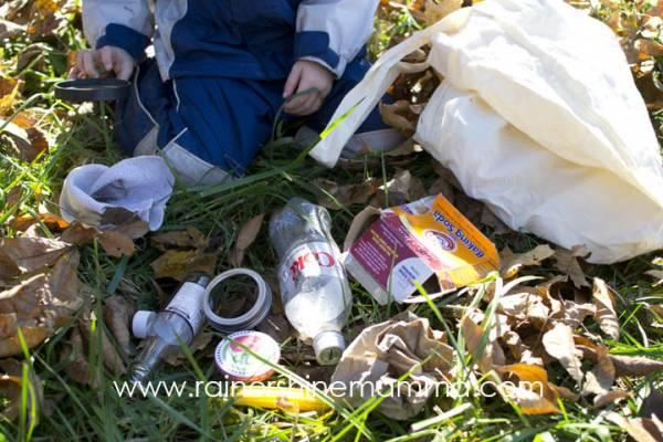 trash nature scavenger hunt