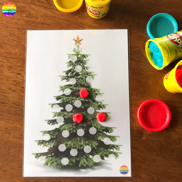 christmas tree printable mat