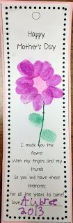 mother's day bookmark
