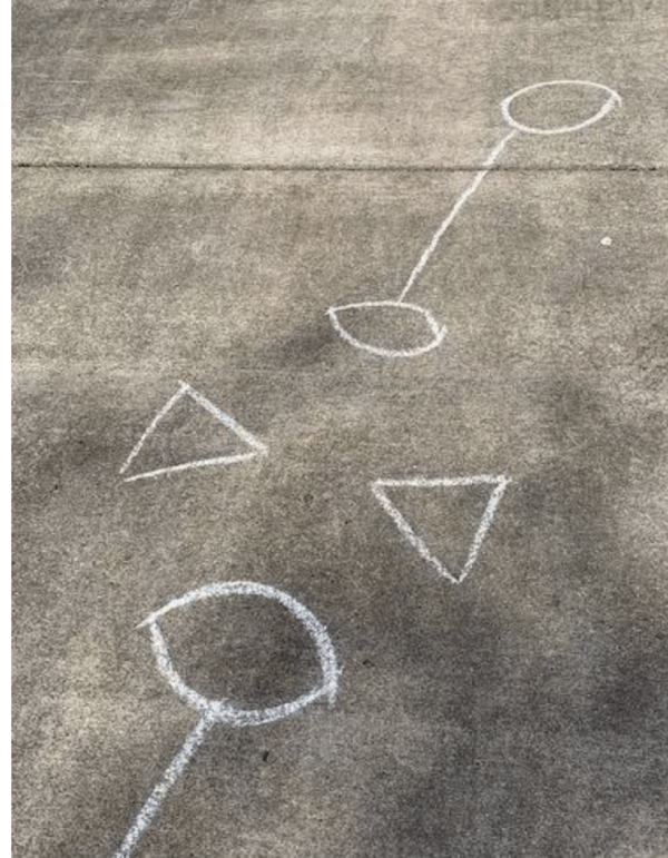 sidewalk chalk obstacle course