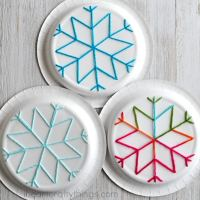 How to Make Paper Plate Snowflake Art