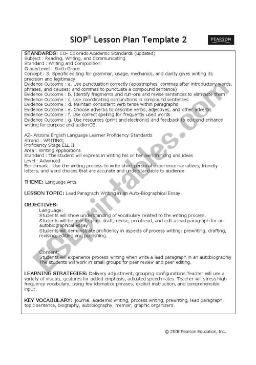 small resolution of 6th Grade English Lesson Plans   Lesson Plans Learning