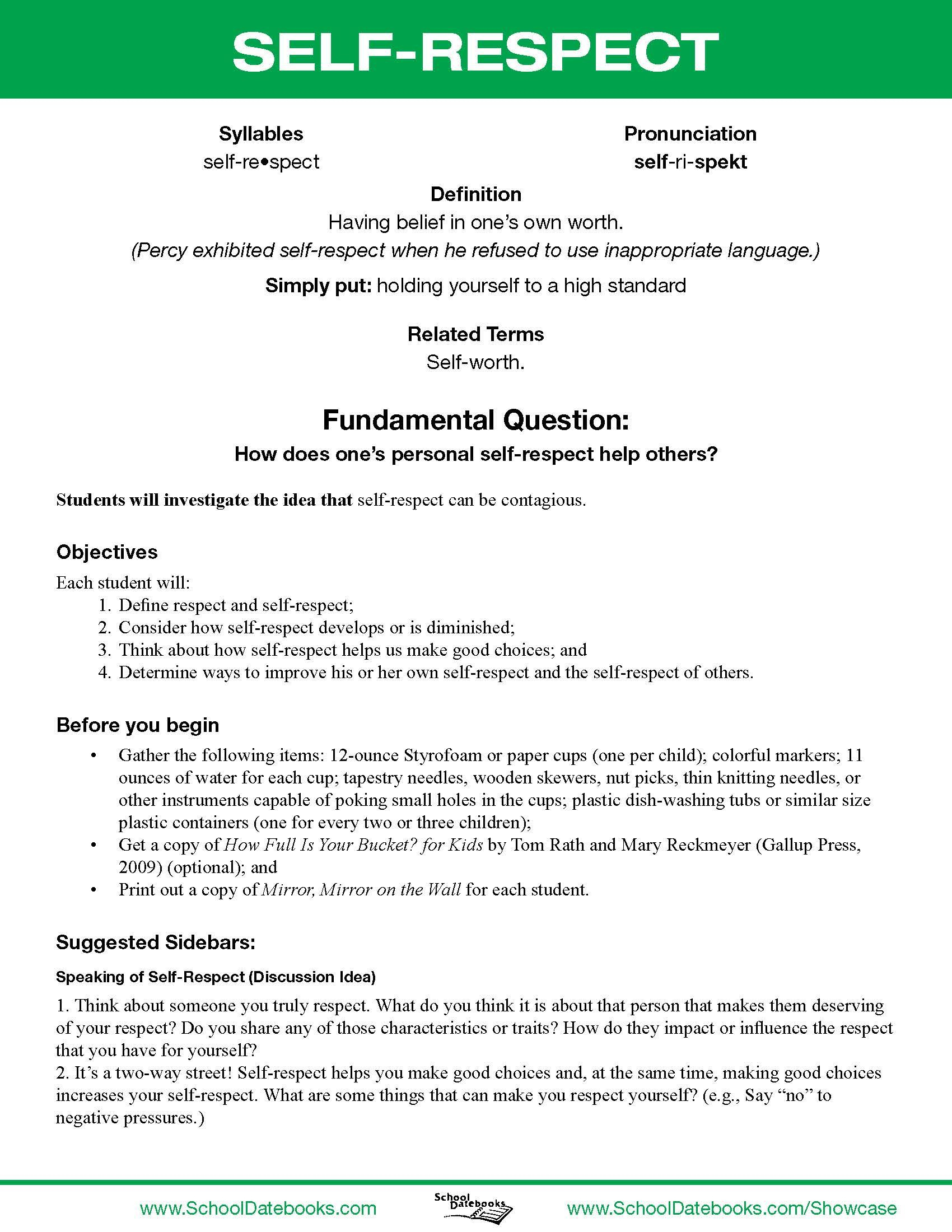 Tolerance And Respect For Others Lesson Plan Esl