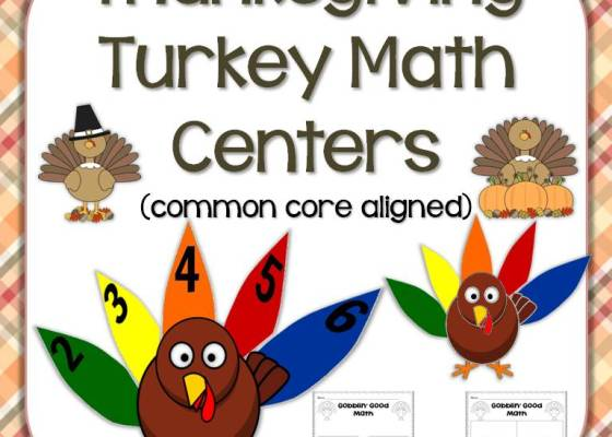 Thanksgiving turkey math center