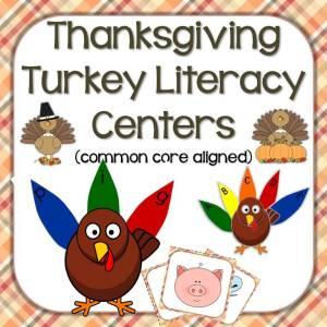 Thanksgiving turkey literacy center