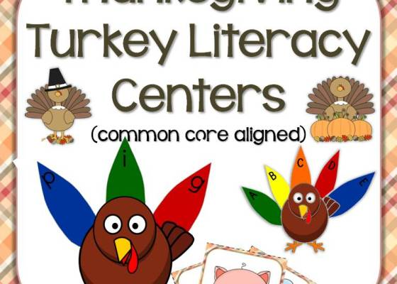 Thanksgiving turkey literacy center