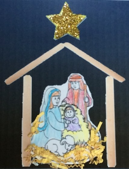 nativity craft made from popsicle sticks (craft sticks)