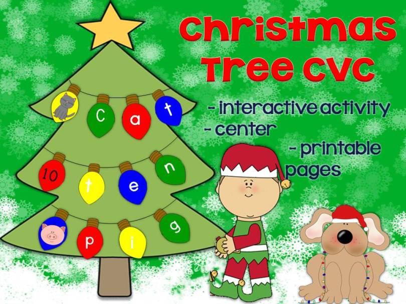 Christmas Tree CVC words