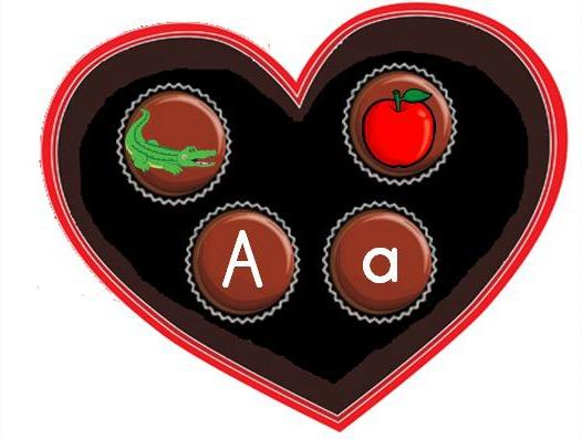 Valentine's Day alphabet letter sounds center