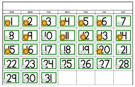 free March Comes in Like a Lion Out Like a Lamb calendar activity