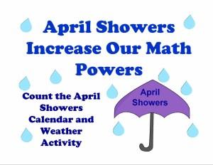 April Showers calendar weather activity