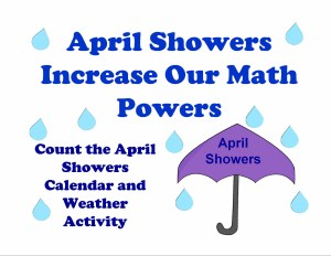 April Showers calendar weather activity