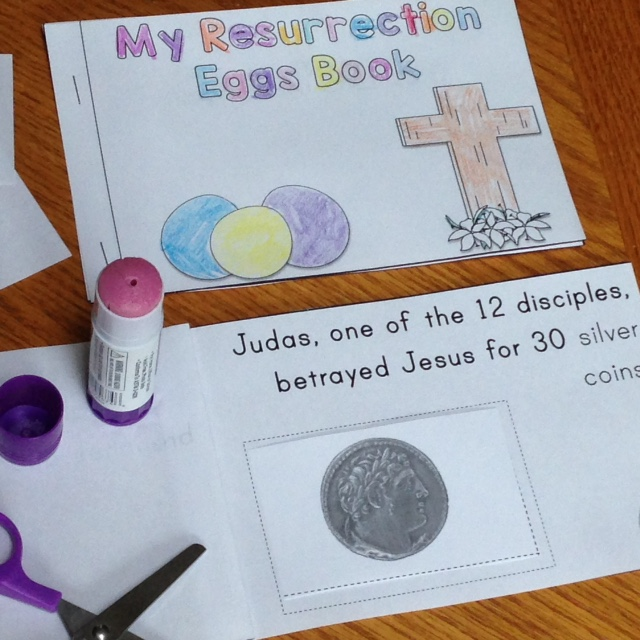Resurrection Eggs student-made book