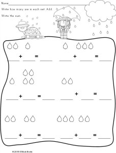 kindergarten spring math differentiated common core page