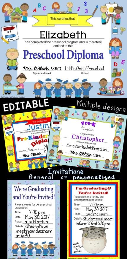Preschool pre k pre kindergarten diplomas certificates preschool diplomas yelopaper Image collections