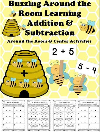 Spring Bees Addition and Subtraction