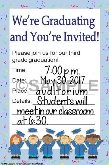 elementary school diploma & graduation invitation editable