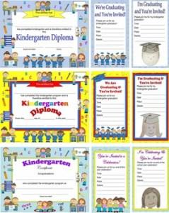 Kindergarten Diplomas, Graduation Invitations