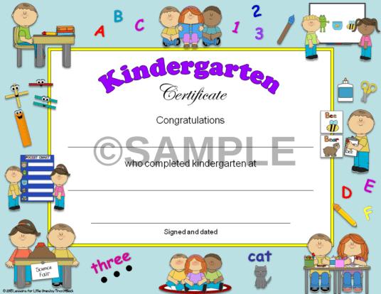kindergartencertificate
