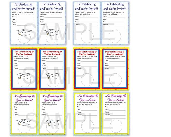 Kindergarten Graduation Invitations Personalized