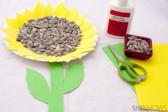 sunflower seeds craft