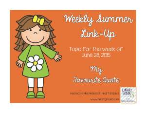 Weekly Summer Link-Up My Favorite Quote