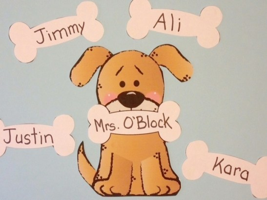 Dog Welcome to School Classroom display