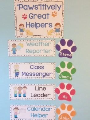 dog classroom helpers class decor
