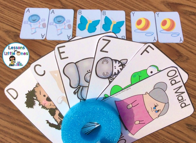 alphabet old maid cards uppercase letters