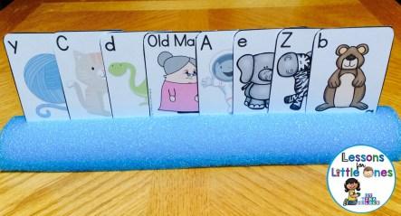 alphabet old maid card holder