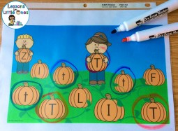 alphabet letter match in the pumpkin patch