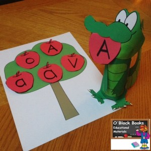 apple tree letter A center activity