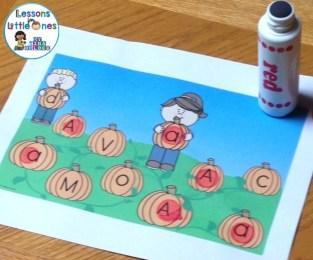 pumpkin patch letter match