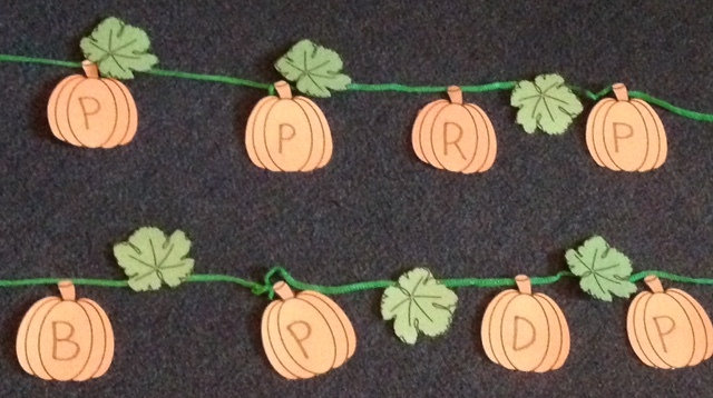 letter p pumpkin patch