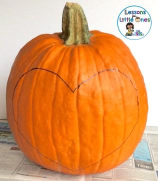 Christian pumpkin carving heart