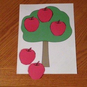 addition subtraction 5 red apples
