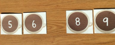 missing numbers math card game