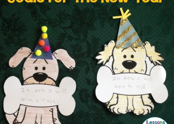 New Year bulletin board and craftivity
