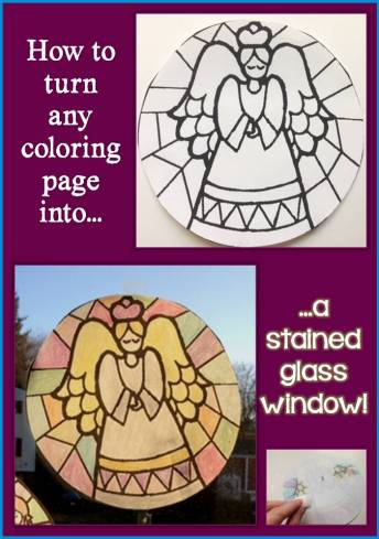 How to Turn a Coloring Page into a Stained Glass Window