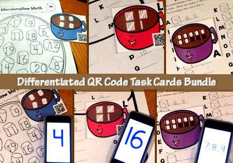 QR code task cards bundle TPT sale