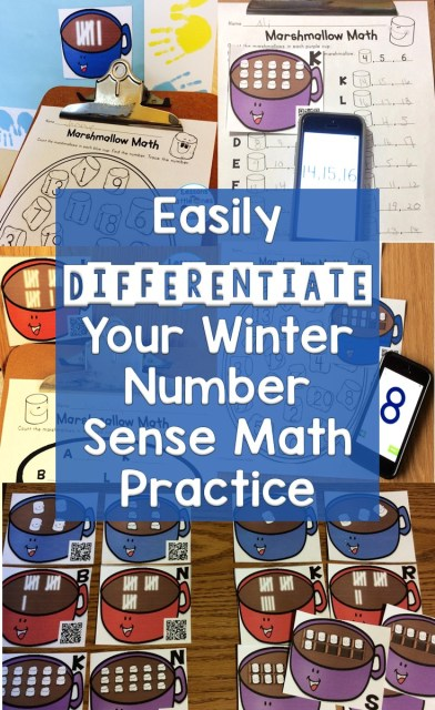 Easily Differentiate Your Winter Number Sense Math Practice