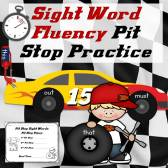 Sight Word Fluency Pit Stop Practice