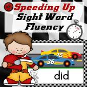 sight word fluency racing cards
