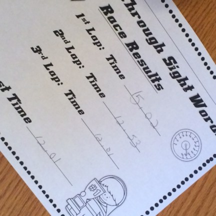 rev up sight word fluency practice