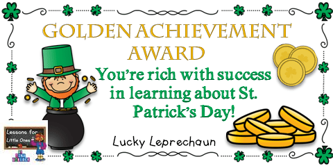 St. Patrick's Day award